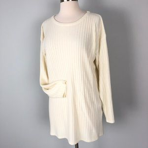 Vintage | Express Tricot Long Sleeve Tunic Cream